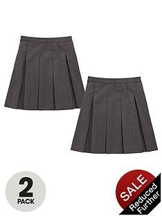 top-class-girls-school-uniform-woven-standard-permanent-pleat-skirts-2-pack