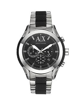 Armani Exchange Zulu Chrono Steel and Black Mens Watch