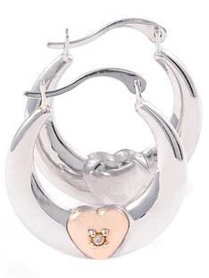 keepsafe-sterling-silver-and-9-carat-rose-gold-creole-earring-set-with-cubic-zirconia