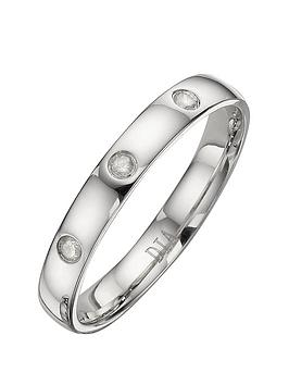 Love GOLD Love Gold 9 Carat White Gold 3Mm Ladies Wedding Band With  ... Picture