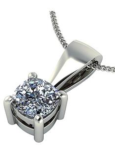 moissanite-9-carat-white-gold-50pt-cushion-set-pendant