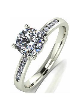 Moissanite Moissanite 9 Carat White Gold 1.10Pt Equivalent Solitaire Ring  ... Picture
