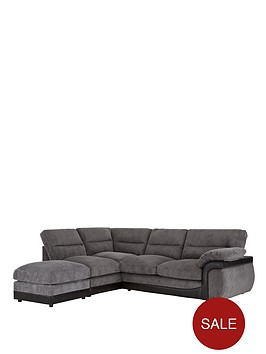 Lyla left hand corner chaise sofa for Bartlett caramel left corner chaise sectional