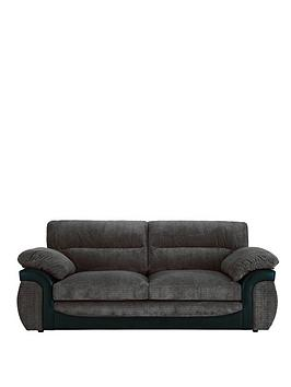 Very Lyla Fabric And Faux Leather 3 Seater Sofa Picture