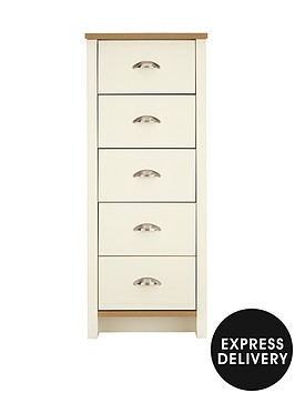 consort-tivoli-ready-assembled-tall-narrow-chest-of-5-drawers-5-day-express-delivery