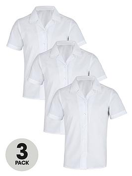 top-class-girls-easy-care-school-uniform-short-sleeve-shirts-3-pack