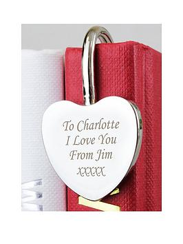 Very Personalised Silver Heart Bookmark Picture