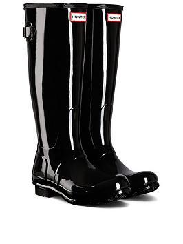hunter-tall-gloss-wellies-black