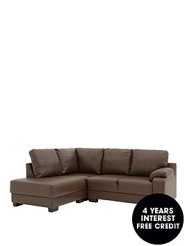 dino-faux-leather-left-hand-compact-corner-chaise-sofa