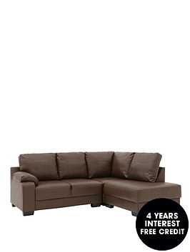 dino-faux-leather-right-hand-compact-corner-chaise-sofa