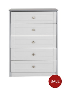 6795017d6b7b51 Alderley Ready Assembled Wide Chest of 5 Drawers