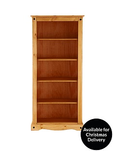 corona-solid-pine-tall-bookcase