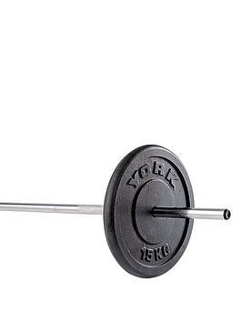 york-1-x-15kg-black-cast-iron-1-inch-plates