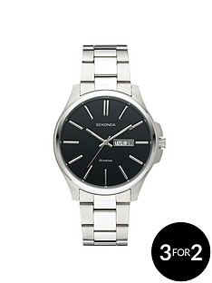 sekonda-mens-black-dial-bracelet-watch