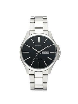 Sekonda Mens Black Dial Bracelet Watch