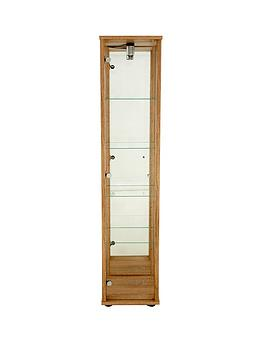optima-glass-shelf-mirrored-back-single-display-unit-with-light-dark-brown-light-oak-effect