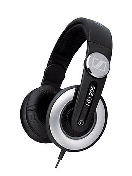 Sennheiser Sennheiser Hd 205 Closed Back Stereo Dj Headphones  BlackBlack