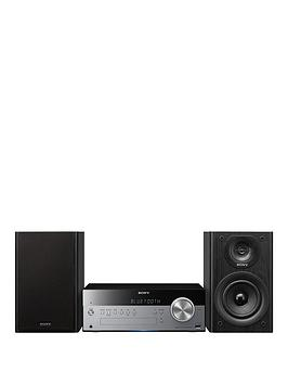 Sony CmtSbt100B Micro HiFi System With Nfc  SilverBlack