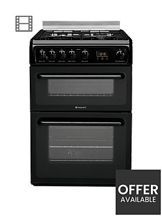 hotpoint-newstylenbsphagl60k-60cm-double-oven-gas-cooker-with-fsd-black