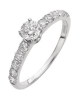 Love DIAMOND Love Diamond 9 Carat White Gold 1 Carat Diamond Solitaire And  ... Picture
