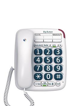 BT Bt Big Button 200 Corded Telephone Picture