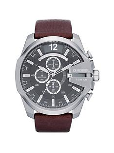 diesel-mens-mega-chief-brown-strap-watch