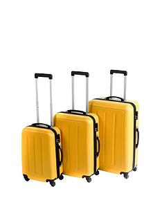 constellation-galloway-3-piece-abs-luggage-set-yellow