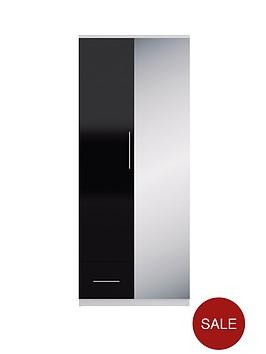 cologne-gloss-2-door-1-drawer-wardrobe