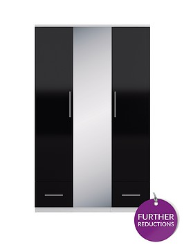 cologne-gloss-3-door-2-drawer-mirrored-wardrobe