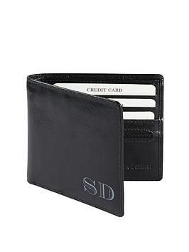 Very  Personalised Leather Wallet - Black