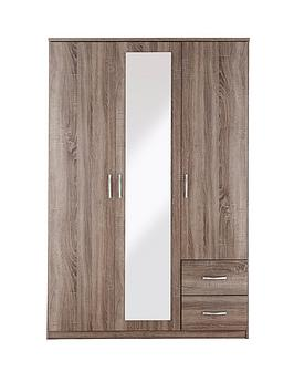 portland-3-door-2-drawer-mirrored-wardrobe