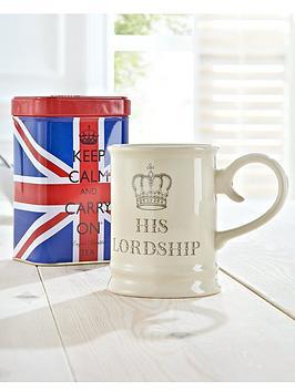 Keep Calm And Carry On  His Lordship Mug And Tea