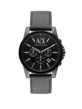 Armani Exchange Black Silicone Strap Chronograph Mens Watch