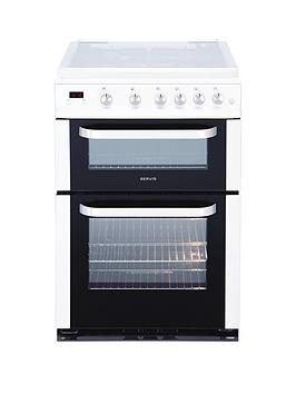 servis-dg60w-60cm-double-oven-gas-cooker-with-lid-white