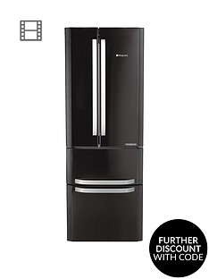 hotpoint-day-1-ffu4dk-american-stylenbsp70cmnbspwide-frost-free-fridge-freezer-anbspenergy-rating-black