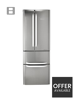 hotpoint-ffu4dx1-american-style-70cm-widenbspfrost-free-fridge-freezer-a-energy-rating-stainless-steel