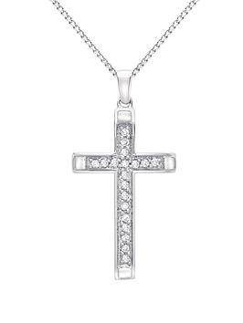 love-diamond-9-carat-white-gold-15-point-diamond-cross