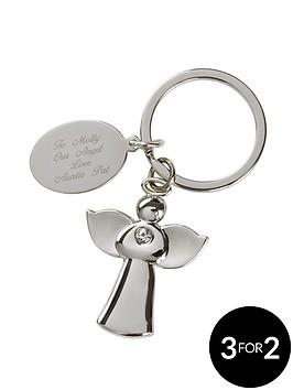 personalised-silver-angel-keyring