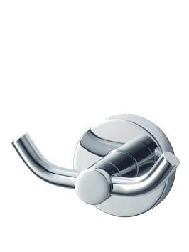 Aqualux Aqualux Haceka Kosmos Double Chrome Bathroom Hook Picture