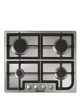hoover-hgh64scx-60cm-built-in-gas-hob-stainless-steel