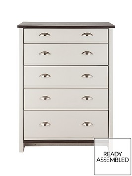 consort-tivoli-ready-assembled-graduated-chest-of-5-drawers-10-day-express-delivery