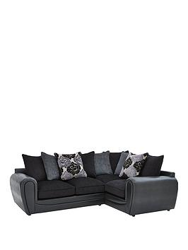 monico-floral-fabric-and-faux-snakeskin-right-hand-double-arm-corner-group-sofa