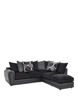 monico-floral-fabric-and-faux-snakeskin-right-hand-single-arm-corner-chaise-sofa-and-footstool