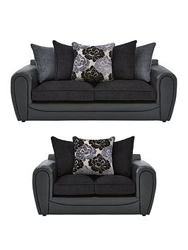 monico-floralnbspfabric-and-faux-snakeskin-3-seater-2-seater-sofa-set-buy-and-save
