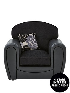 monico-floral-fabric-and-faux-snakeskin-armchair