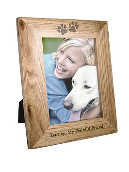 Very Personalised 6X4 Pet Print Wooden Photo Frame Picture