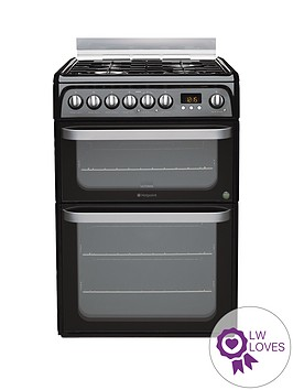 hotpoint-ultima-hud61ks-60cm-double-oven-dual-fuel-cooker-with-gas-hob-black