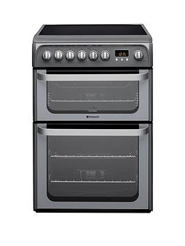 Hotpoint Hotpoint Ultima Hue61Gs 60Cm Double Oven Electric Cooker With  ... Picture