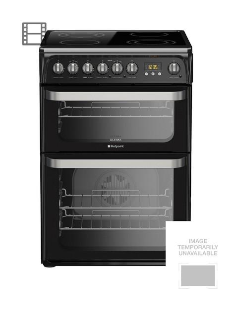 hotpoint-hue61ks-ceramic-double-oven-cooker-black