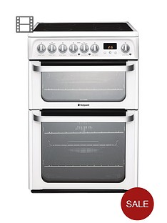 hotpoint-ultima-hue61ps-60cm-double-oven-electric-cooker-with-ceramic-hob-white
